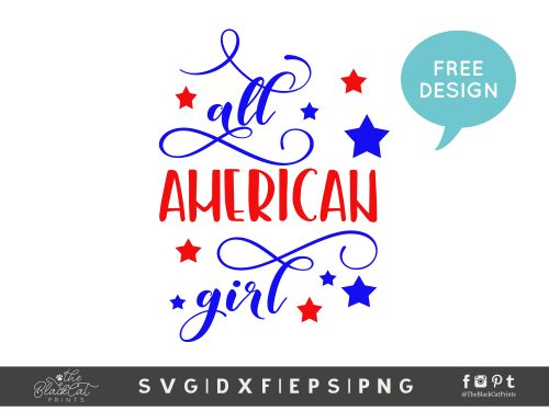 All American girl SVG