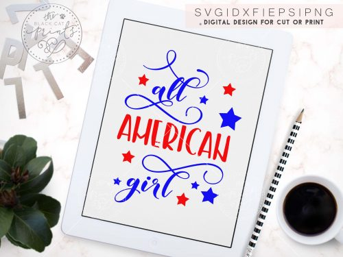 ALL AMERICAN GIRL svg by TheBlackCatPrint
