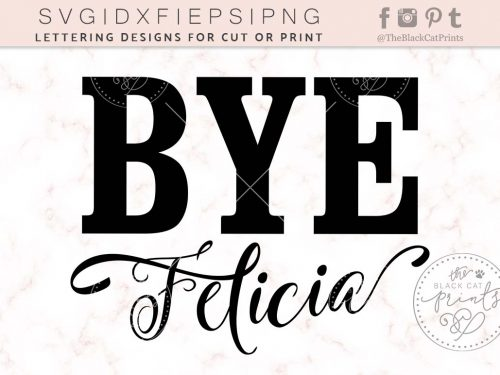 BYE FELICIA svg by TheBlackCatPrints