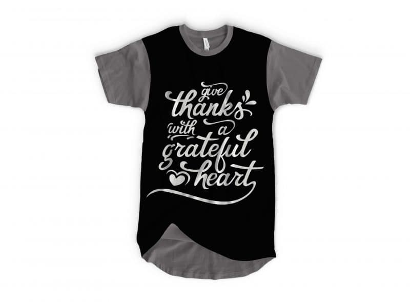 GIVE THANKS WITH A GRATEFUL HEART svg - TheBlackCatprints