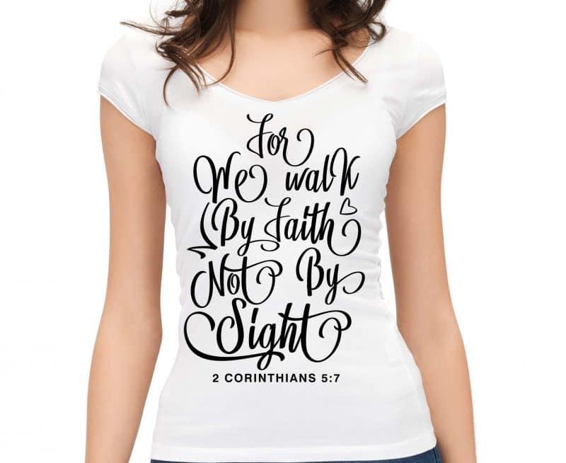 2 CORINTHIANS 5:7 WE WALK BY FAITH - TheBlackCatPrints
