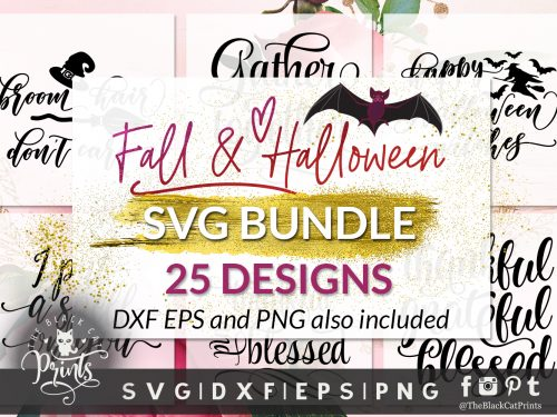 Fall and Halloween bundle SVG