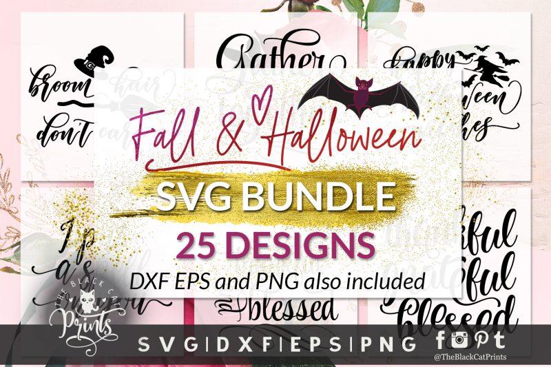Fall and Halloween bundle SVG