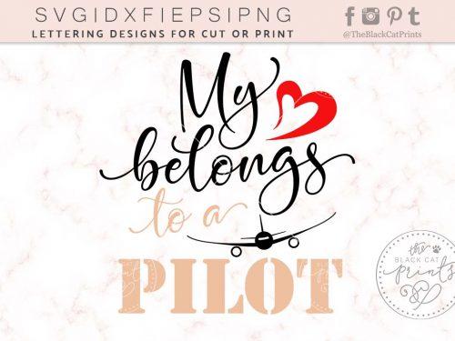 My heart belongs to a pilot svg