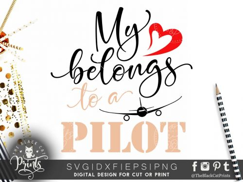 My heart belongs to a pilot SVG