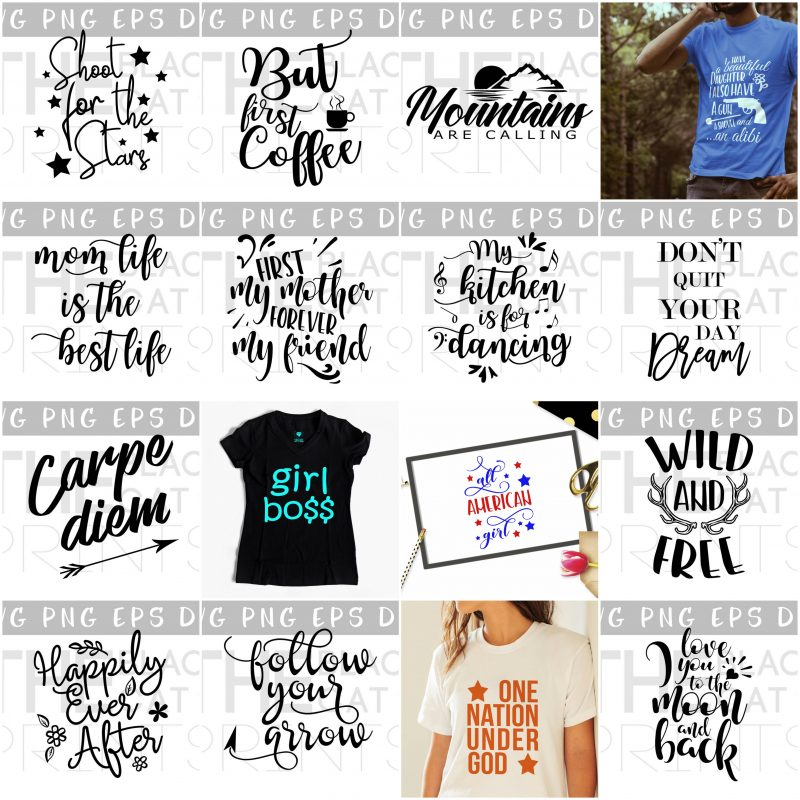 Quotes and Sayings SVG bundle