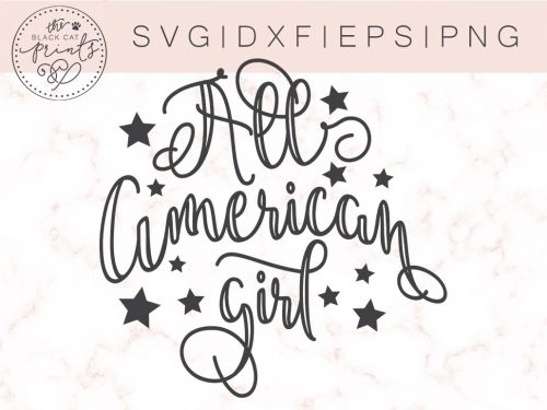 ALL AMERICAN GIRL SVG