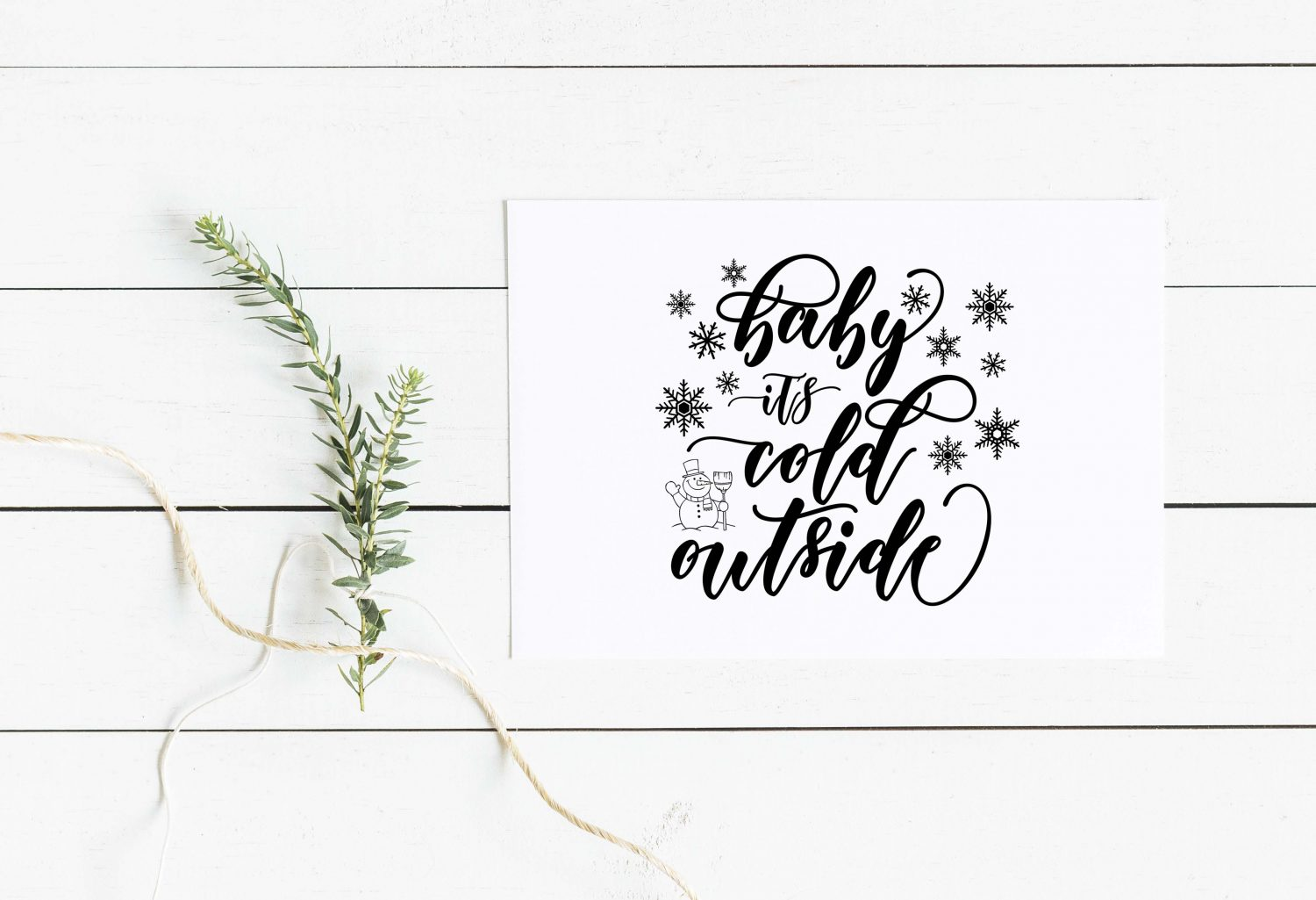 Baby It S Cold Outside Svg Dxf Png Eps Theblackcatprints