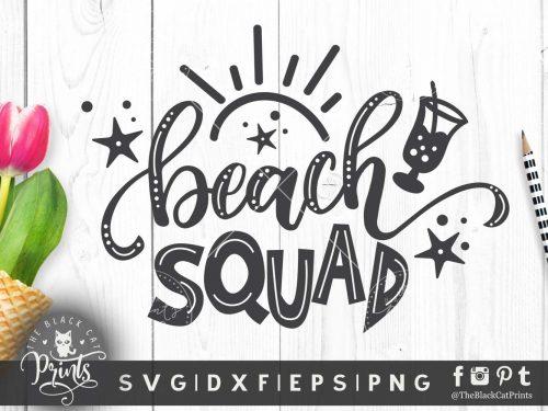 Beach Squad SVG