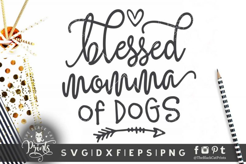 Blessed momma of dogs SVG