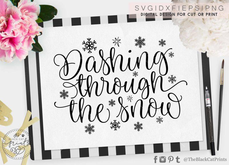 Dashing through the snow svg