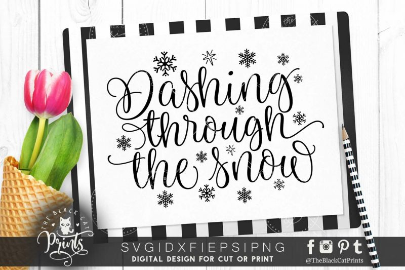 Dashing through the snow SVG