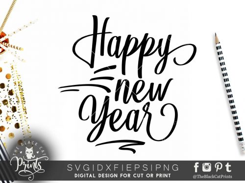 Happy New year SVG