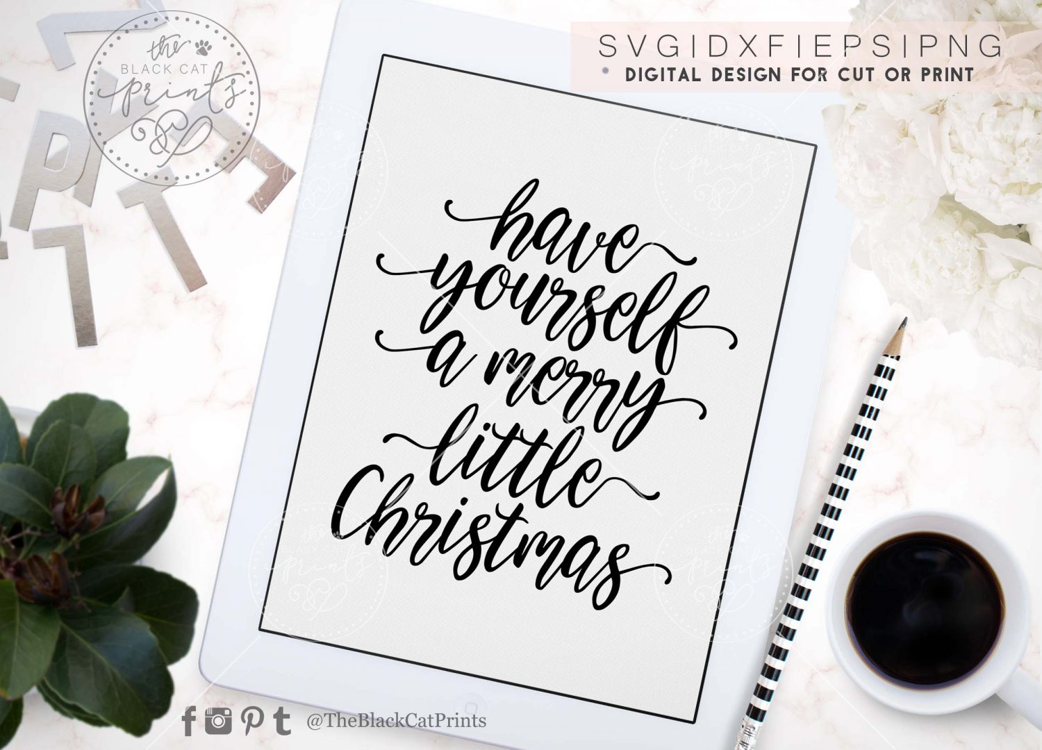 Have Yourself A Merry Little Christmas Svg.Have Yourself A Merry Little Christmas Svg Dxf Png Eps