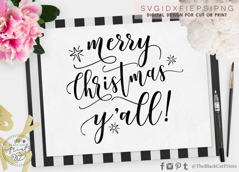 Merry Christmas Yall! svg
