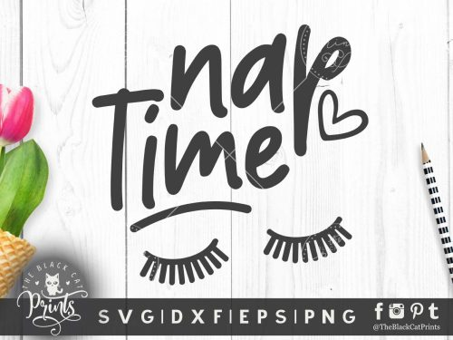Nap time Lashes SVG