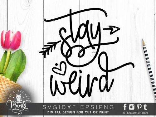 Stay weird Arrow SVG