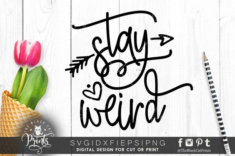 Stay weird Arrow SVG