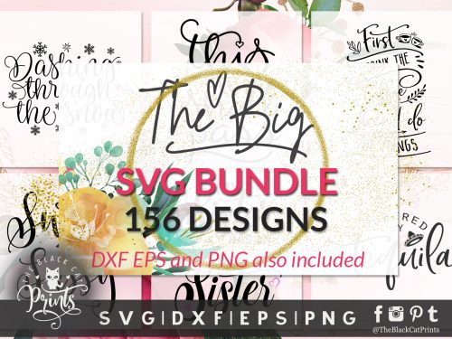 TheBlackCatPrints Big bundle SVG