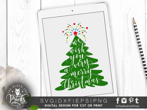 We wish you a very merry Christmas SVG