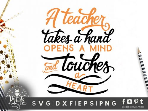 A teacher takes a hand SVG