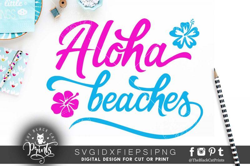 Aloha beaches SVG