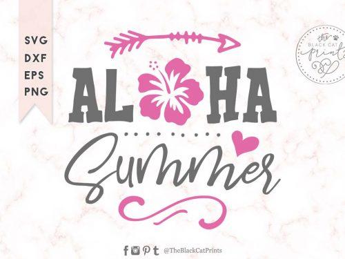 Aloha summer svg