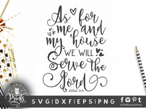 As for me and my house SVG