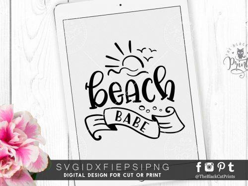 Beach babe SVG