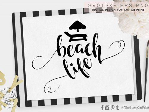 Beach life svg