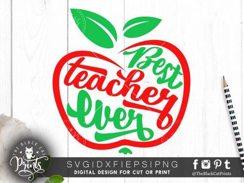Best teacher ever Apple SVG