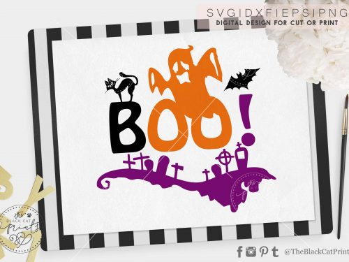 Boo Ghost svg - TheBlackCatprints