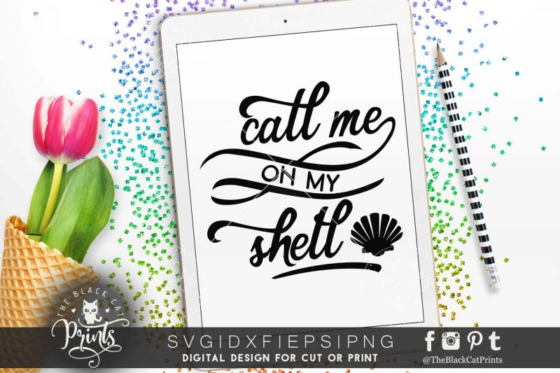 Call me on my shell SVG