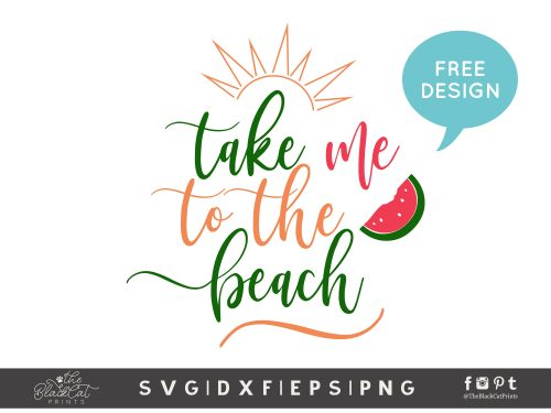 Take me to the beach SVG