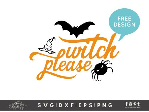Witch please SVG - Free