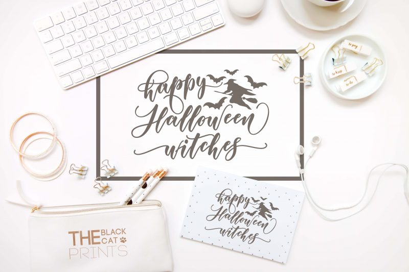 Happy Halloween witches svg