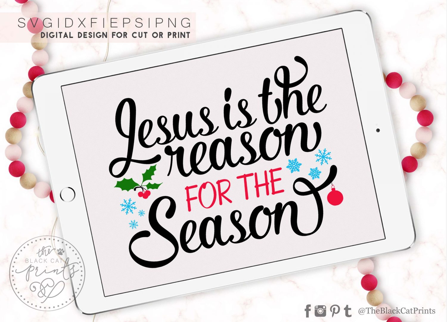 Jesus Is The Reason For The Season Svg Dxf Png Eps