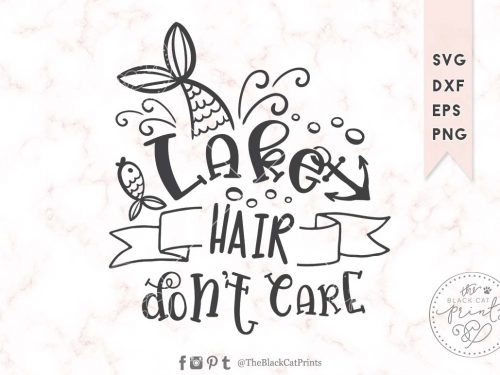 Lake hair don't care svg