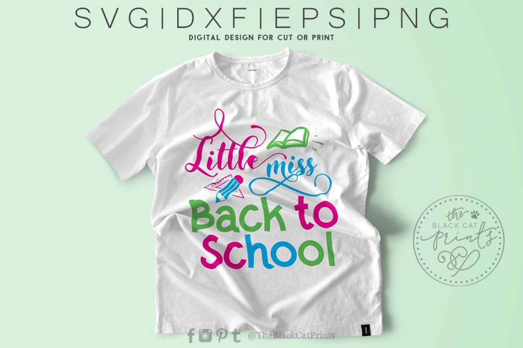Little miss back to school svg