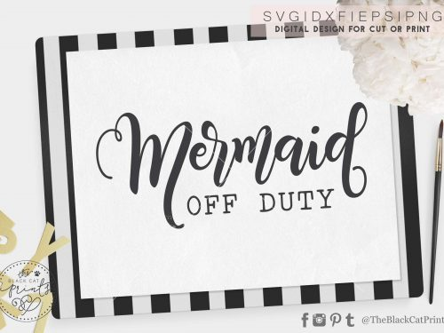 Mermaid off duty svg
