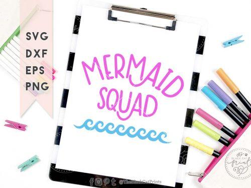 Mermaid squad svg