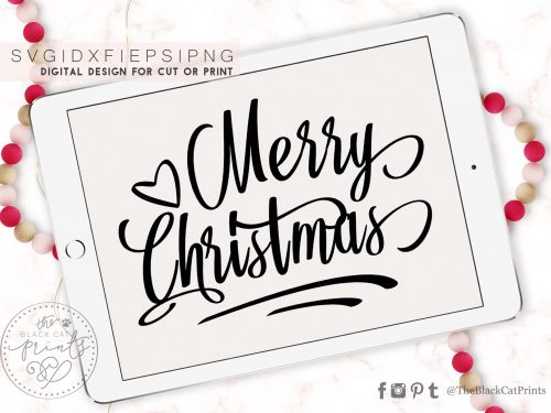 Merry Christmas svg - TheBlackCatPrints