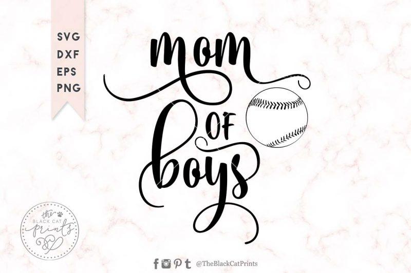 Mom of boys svg