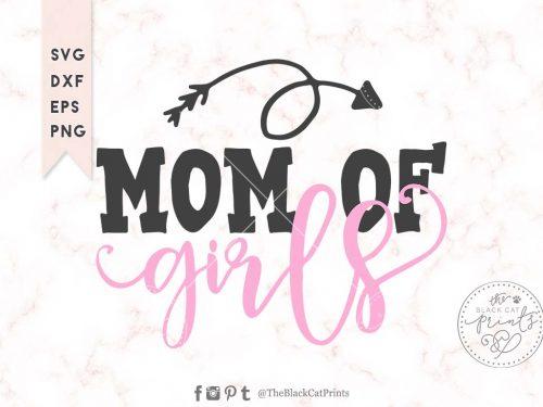 Mom of girls svg - TheBlackcatprints
