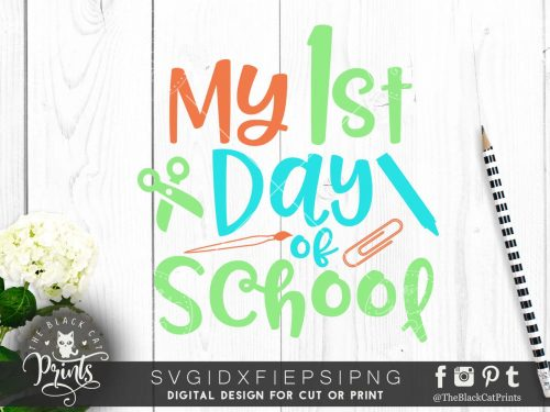My first day of school SVG