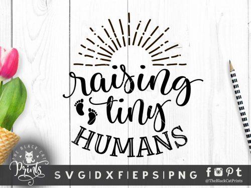 Raising tiny humans SVG