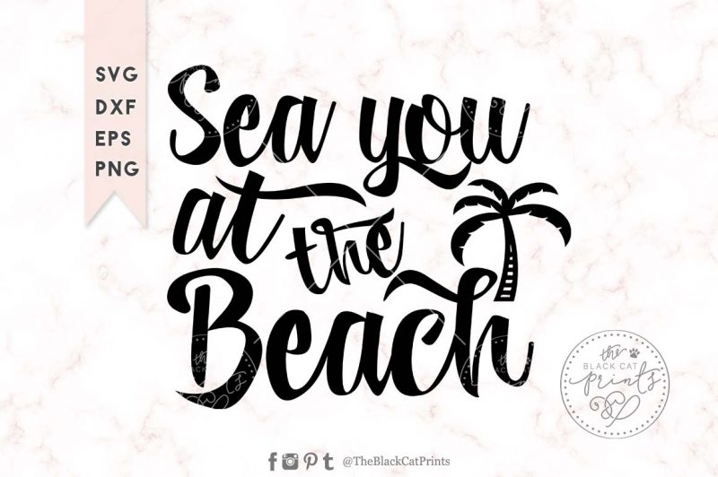 Sea you at the beach svg