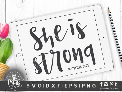 She is strong SVG
