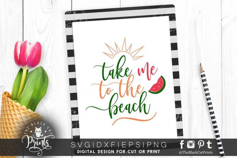 Take me to the beach SVG