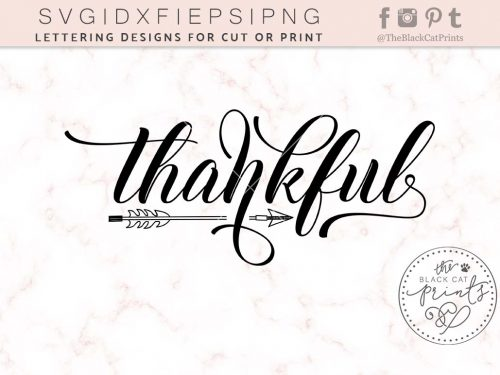 Thankful svg - TheBlackCatPrints